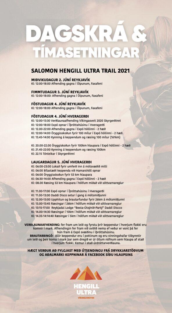 Hengill Ultra Dagskrá 2021